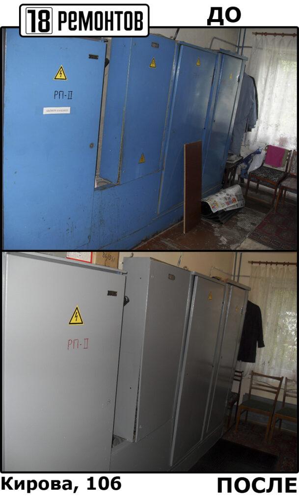 Окраска электрического ящика